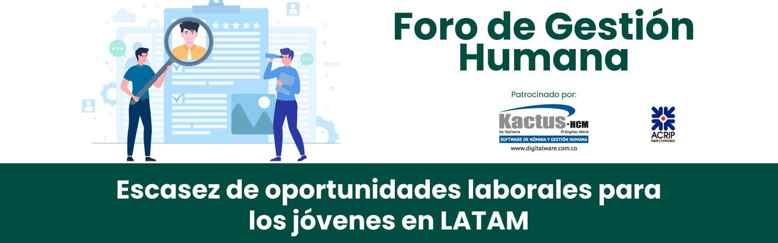 Escasez de oportunidades laborales para los jóvenes en LATAM