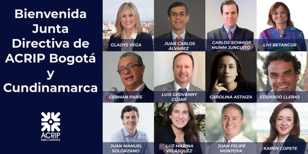 Bienvenida a la nueva Junta Directiva de ACRIP Bogotá y Cundinamarca